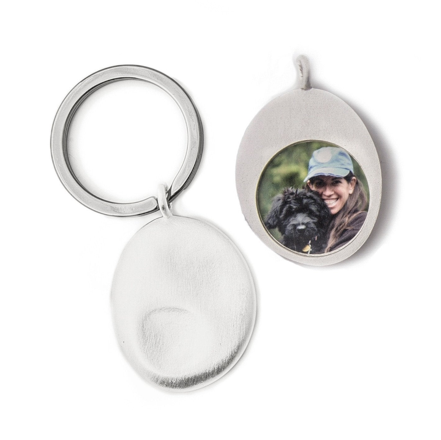 Personalized Worry Stone Keyring - Large