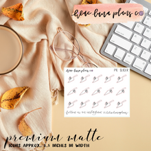 Load image into Gallery viewer, Laundry | Planner Matte Script Sticker with Icon