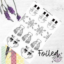 Load image into Gallery viewer, Winter | Handdrawn Foiled Half Deco