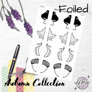 NEW RELEASE | Autumn | Handdrawn Foiled Half Deco | Autumn Collection 2020