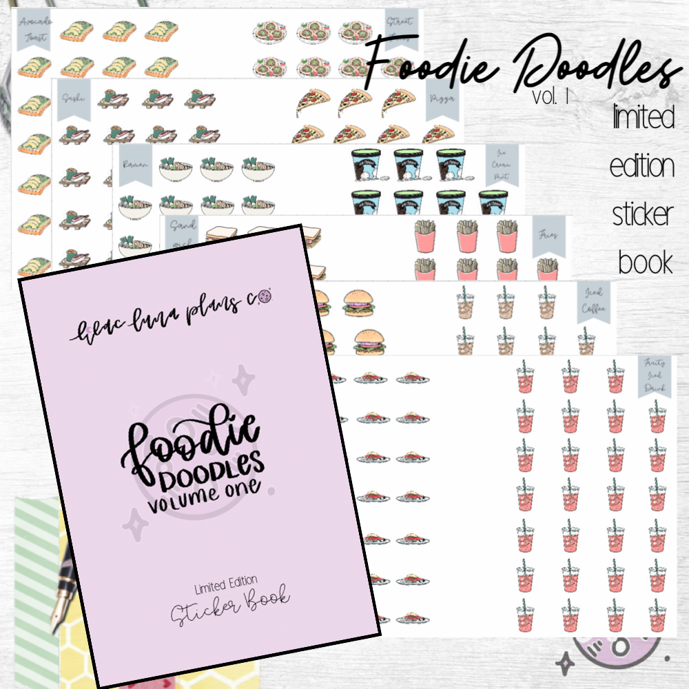 **READY TO SHIP** Foodie Doodle Volume 1 Sticker Book