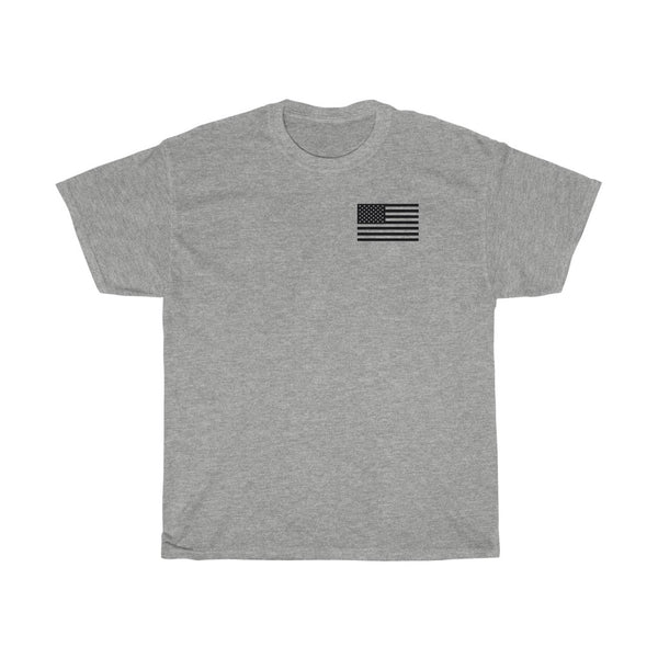 American Flag POG Coffee Unisex Heavy Cotton Tee