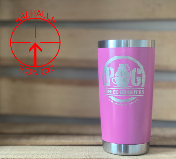 POG Coffee Roasters 20oz. Coated Stainless Cup