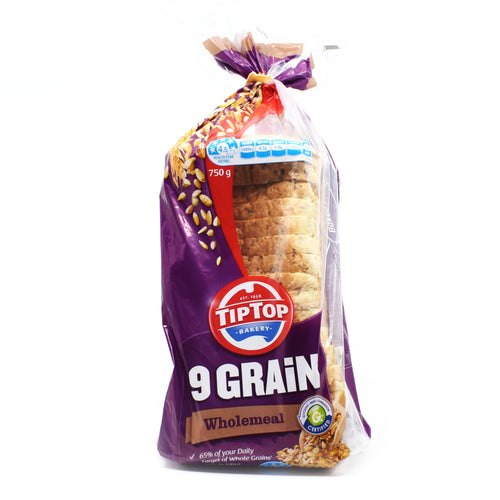 TipTop Bakery - 9 Grain Wholemeal Bread 700g - Bel & Brio Shop Online | Supermarket , Bottle Shop , Restaurant Deliveries