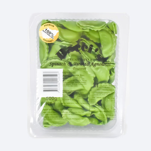 Bacci's Fresh Pasta - Spinach & Ricotta Agnolotti 500g - Bel & Brio Shop Online | Supermarket , Bottle Shop , Restaurant Deliveries