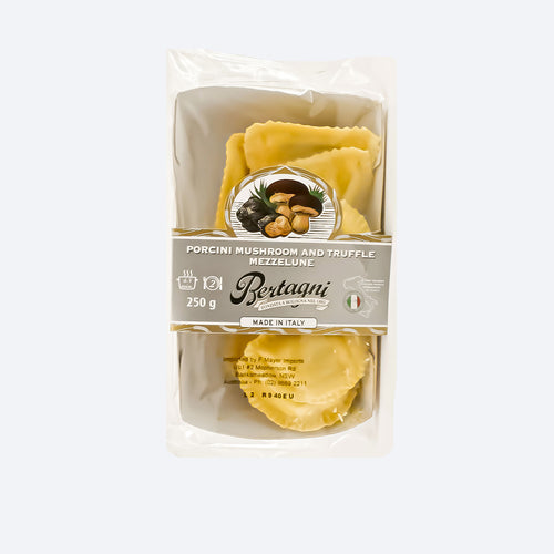 Bertagni - Porcini Mushroom And Truffle Mezzelune 250g - Bel & Brio Shop Online | Supermarket , Bottle Shop , Restaurant Deliveries