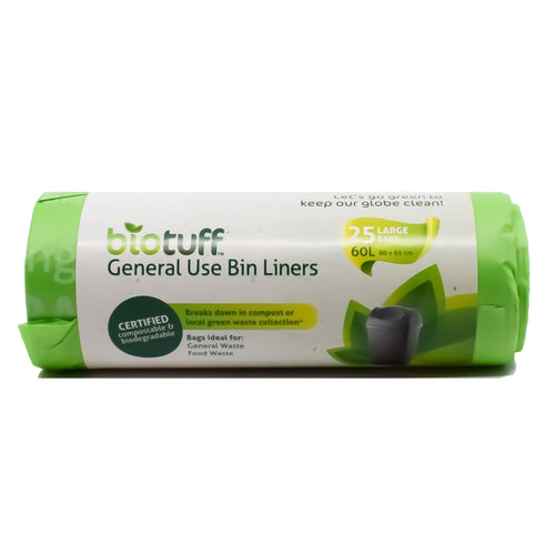 Biotuff General Use Bin Liners Large (25 Pack) - Bel & Brio Shop Online | Supermarket , Bottle Shop , Restaurant Deliveries