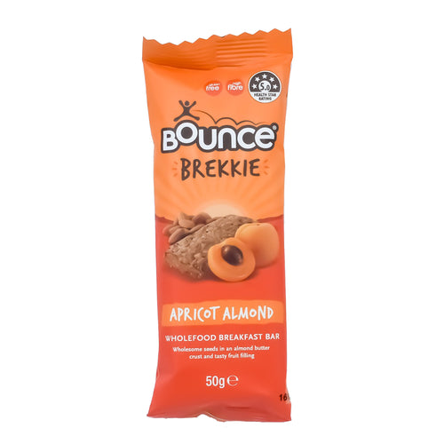 Bounce Brekkie - Apricot Almond 50g - Bel & Brio Shop Online | Supermarket , Bottle Shop , Restaurant Deliveries