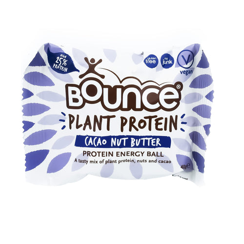 Bounce Plant Protein Energy Ball - Cacao Nut Butter 40g - Bel & Brio Shop Online | Supermarket , Bottle Shop , Restaurant Deliveries
