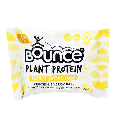 Bounce Plant Protein Energy Ball - Peanut Butter Cacao 40g - Bel & Brio Shop Online | Supermarket , Bottle Shop , Restaurant Deliveries