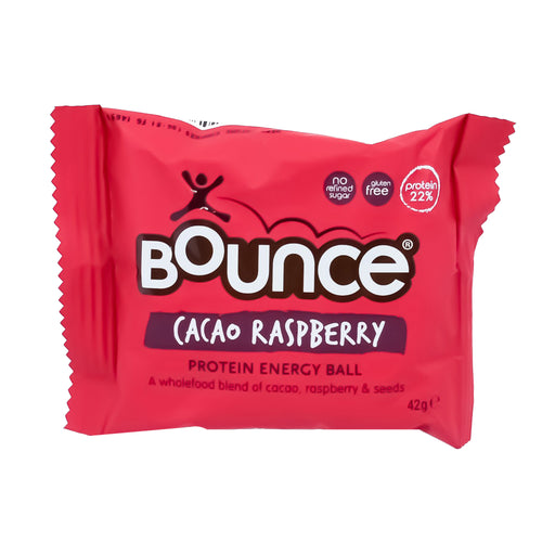 Bounce Protein Energy Ball - Cacao Raspberry 42g - Bel & Brio Shop Online | Supermarket , Bottle Shop , Restaurant Deliveries
