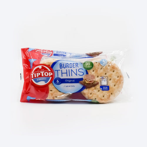 TipTop Bakery - Burger Thins Original 200g - Bel & Brio Shop Online | Supermarket , Bottle Shop , Restaurant Deliveries