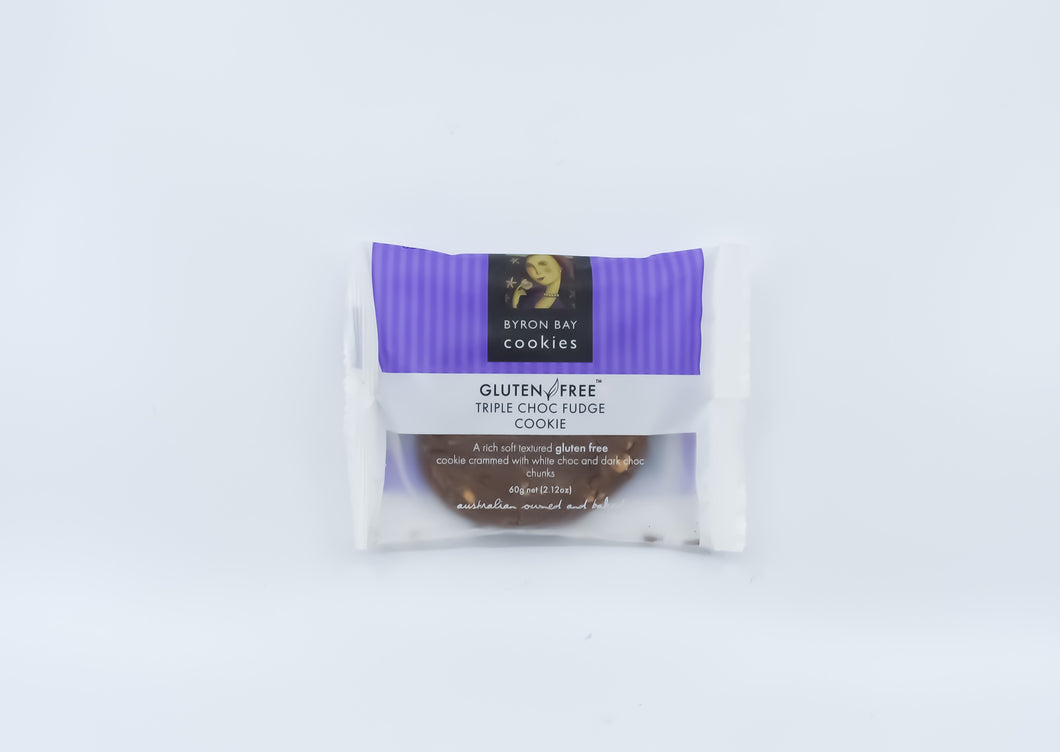 Byron Bay Cookies - Triple Choc Fudge Cookie 60g - Bel & Brio Shop Online | Supermarket , Bottle Shop , Restaurant Deliveries