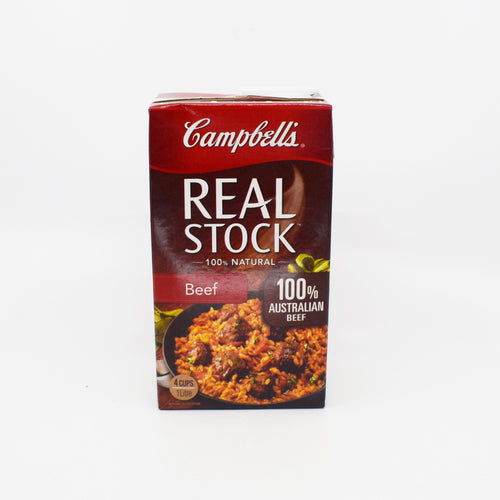 Campbells - Real Stock Beef 100% Natural 1L - Bel & Brio Shop Online | Supermarket , Bottle Shop , Restaurant Deliveries