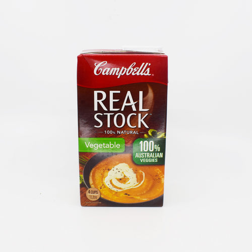Campbells - Real Stock Vegetable 100% Natural 1L - Bel & Brio Shop Online | Supermarket , Bottle Shop , Restaurant Deliveries