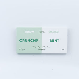 Chow Crunchy Mint Vegan Organic Chocolate 40g - Bel & Brio Shop Online | Supermarket , Bottle Shop , Restaurant Deliveries