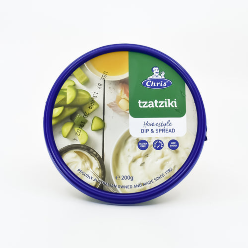 Chris - Tzatziki 200g - Bel & Brio Shop Online | Supermarket , Bottle Shop , Restaurant Deliveries