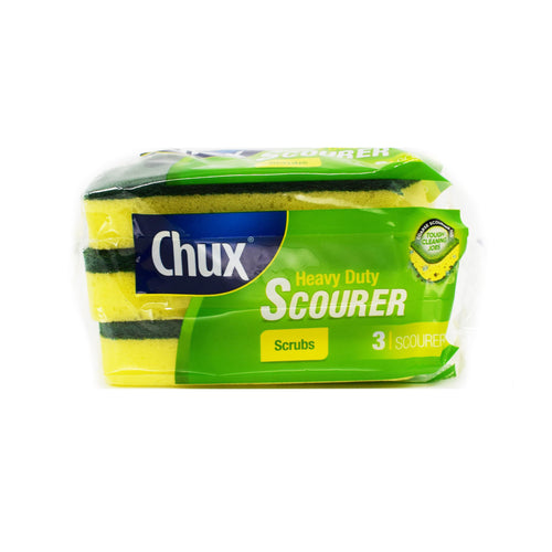Chux - Heavy Duty Scrubs Scourer (3 Pack) - Bel & Brio Shop Online | Supermarket , Bottle Shop , Restaurant Deliveries