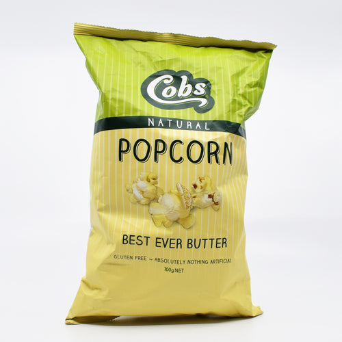 Cobs Natural Popcorn Best Ever Butter 100g - Bel & Brio Shop Online | Supermarket , Bottle Shop , Restaurant Deliveries