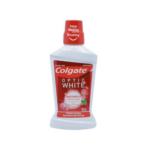 Colgate - Optic White Mouthwash 500ml - Bel & Brio Shop Online | Supermarket , Bottle Shop , Restaurant Deliveries