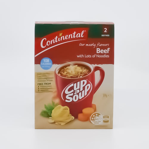 Continental Cup A Soup Beef with Noodles (2 Serves) - Bel & Brio Shop Online | Supermarket , Bottle Shop , Restaurant Deliveries