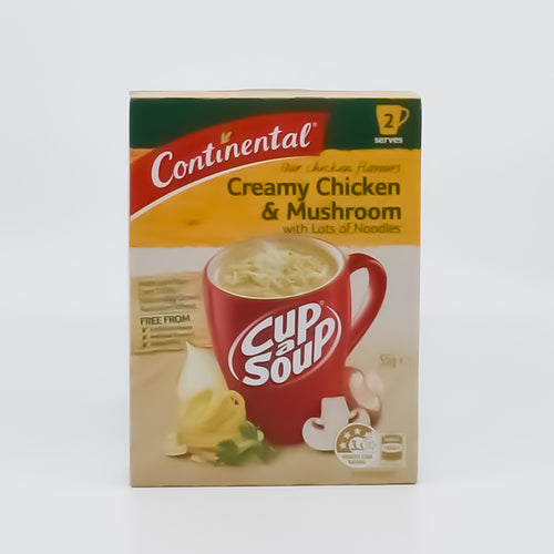 Continental Cup A Soup Creamy Chicken & Mushroom with Noodles (2 Serves) - Bel & Brio Shop Online | Supermarket , Bottle Shop , Restaurant Deliveries