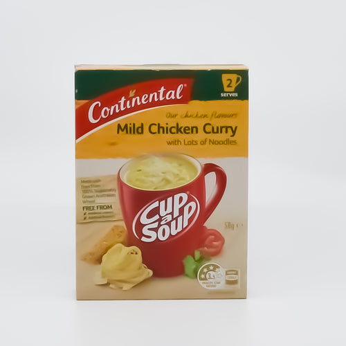 Continental Cup A Soup Mild Chicken Curry with Noodles (2 Serves) - Bel & Brio Shop Online | Supermarket , Bottle Shop , Restaurant Deliveries