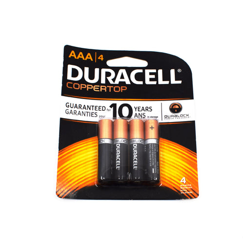 Duracell AAA Batteries 4 Pack - Bel & Brio Shop Online | Supermarket , Bottle Shop , Restaurant Deliveries
