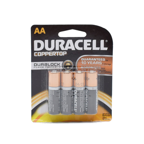 Duracell Coppertop Batteries (AA x4)