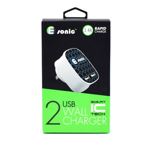 E-sonic - 2 USB Wall Charger