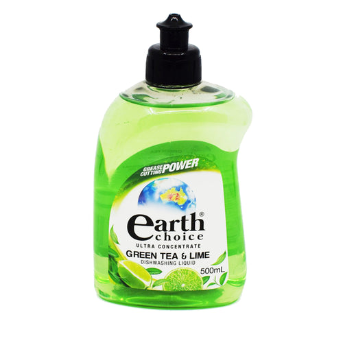 Earth Choice Dishwashing Liquid - Green Tea & Lime 500ml - Bel & Brio Shop Online | Supermarket , Bottle Shop , Restaurant Deliveries