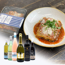 Load image into Gallery viewer, 4 Eggplant Parmigiana + Bottle Of Wine
