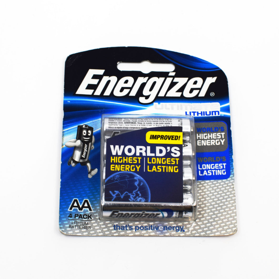 Energizer Ultimate Lithium AA 4 Pack - Bel & Brio Shop Online | Supermarket , Bottle Shop , Restaurant Deliveries
