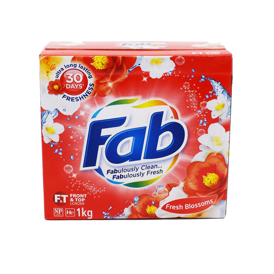 Fab Front & Top Loader Laundry Powder (Fresh Blossoms) 1kg