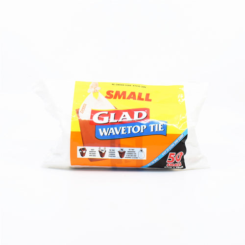 Glad Wavetop Tie Small Bags (50 Pack 18L)
