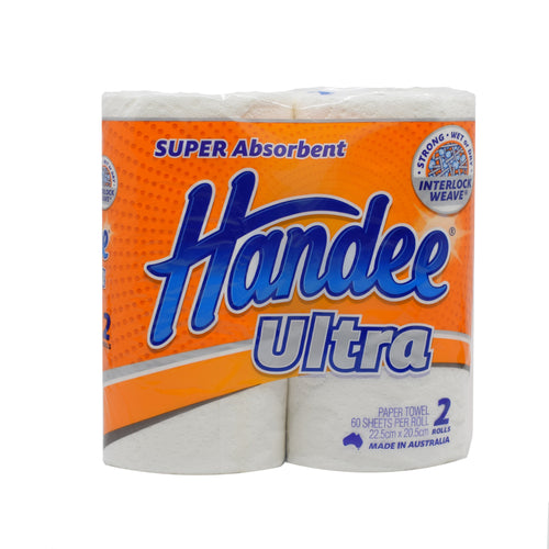 Handee Ultra Towel (2 Rolls x 60 Sheets) - Bel & Brio Shop Online | Supermarket , Bottle Shop , Restaurant Deliveries