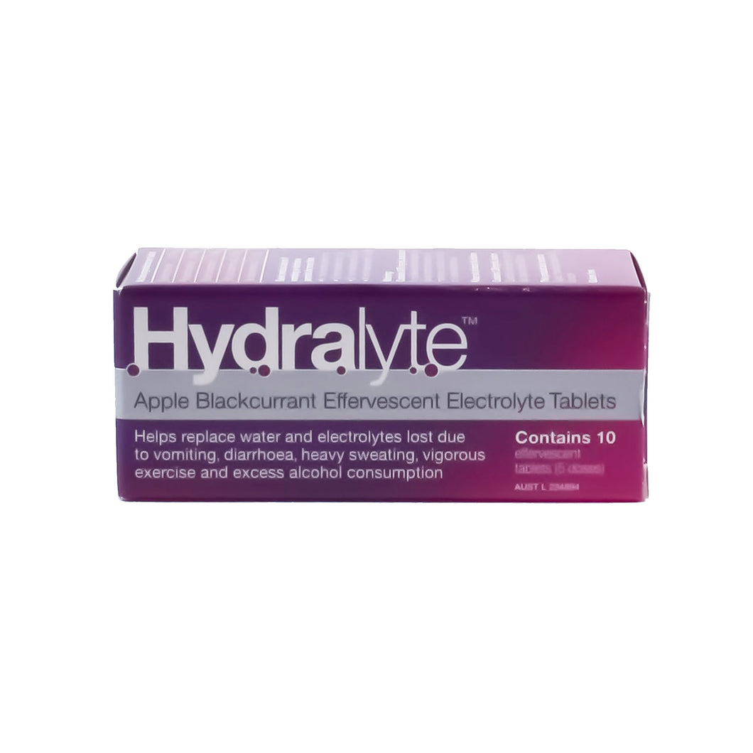Hydralyte - Apple Blackcurrant Effervescent Electrolyte Tablets (10 Tablets)