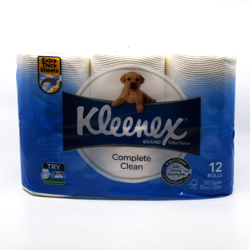 Kleenex Toilet Roll (12 Rolls x 180 Sheets) - Bel & Brio Shop Online | Supermarket , Bottle Shop , Restaurant Deliveries