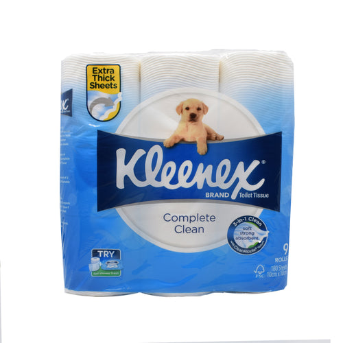 Kleenex Toilet Roll (9 Rolls x 180 Sheets) - Bel & Brio Shop Online | Supermarket , Bottle Shop , Restaurant Deliveries
