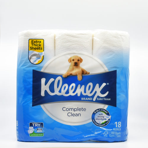 Kleenex Toilet Roll (18 Rolls x 180 Sheets) - Bel & Brio Shop Online | Supermarket , Bottle Shop , Restaurant Deliveries