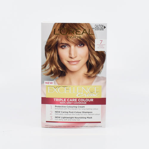 L'Oreal Paris Excellence Triple Care Hair Colour (7 Dark Blonde) - Bel & Brio Shop Online | Supermarket , Bottle Shop , Restaurant Deliveries