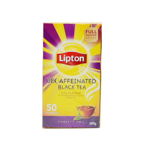 Lipton Decaffeinated Black Tea (50 Bags) - Bel & Brio Shop Online | Supermarket , Bottle Shop , Restaurant Deliveries