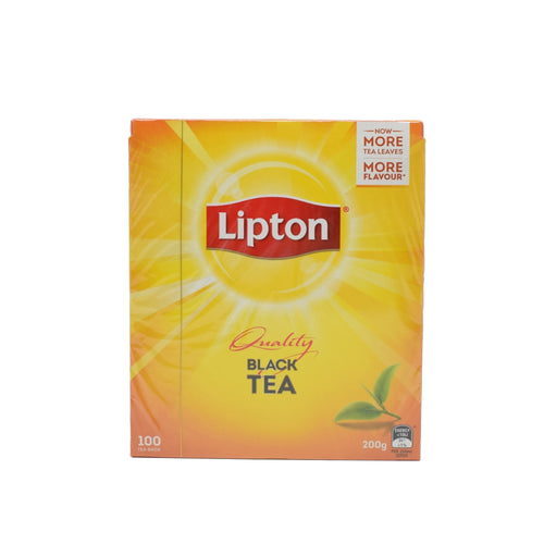 Lipton Quality Black Tea (100 Tea Bags) - Bel & Brio Shop Online | Supermarket , Bottle Shop , Restaurant Deliveries