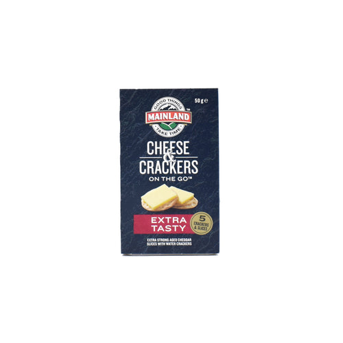 Mainland Cheese & Crackers On The Go - Extra Tasty 50g - Bel & Brio Shop Online | Supermarket , Bottle Shop , Restaurant Deliveries