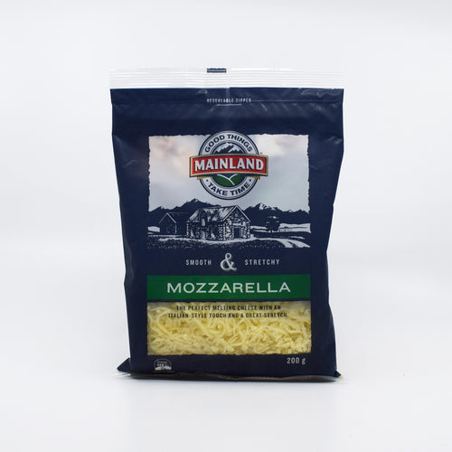 Mainland Grated Mozzarella 200g - Bel & Brio Shop Online | Supermarket , Bottle Shop , Restaurant Deliveries