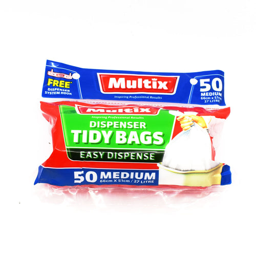 Multix Dispenser Tidy Bags Medium (50 Pack 27L) - Bel & Brio Shop Online | Supermarket , Bottle Shop , Restaurant Deliveries