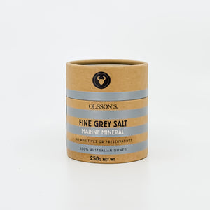 Olsson's Fine Grey Salt 250g - Bel & Brio Shop Online | Supermarket , Bottle Shop , Restaurant Deliveries