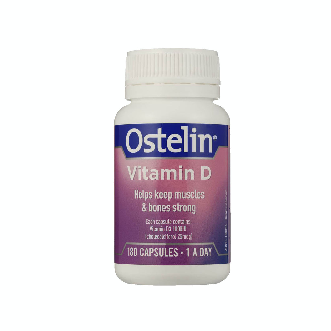 Ostelin - Vitamin D3 1000IU (180 Capsules) - Bel & Brio Shop Online | Supermarket , Bottle Shop , Restaurant Deliveries