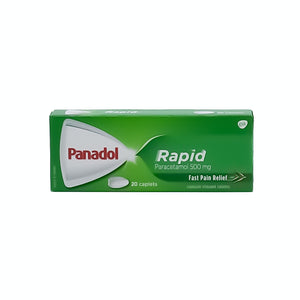 Panadol Rapid Paracetamol 500mg (20 Caplets) - Bel & Brio Shop Online | Supermarket , Bottle Shop , Restaurant Deliveries