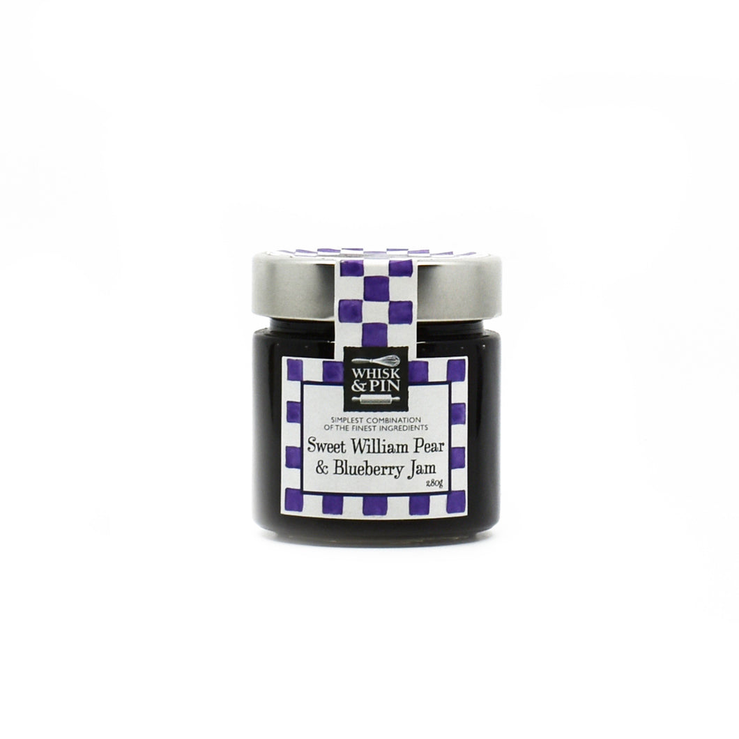 Whisk & Pin - Sweet William Pear & Blueberry Jam 280g